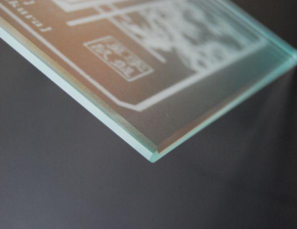ガラスマウスパッドの拡大