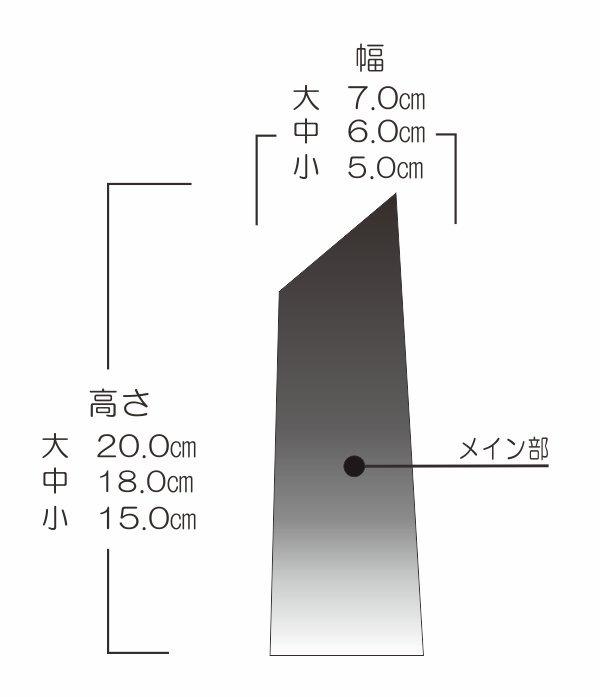 剣型トロフィーサイズ表