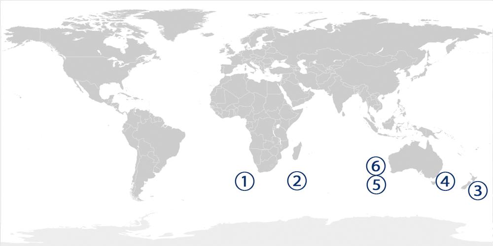 まぐろの漁場図