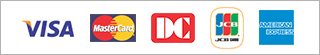 VISA MASTERCARD Diners JCB アメリカン・エキスプレス
