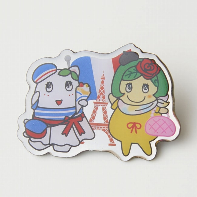 ふなっしーLAND ピンバッジセット(日本&フランス)