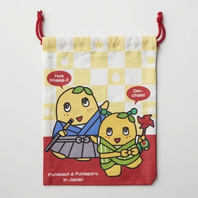 ふなっしーLAND 巾着袋(日本&フランス)
