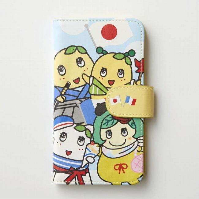 ふなっしーLAND 手帳型スマホカバー(日本&フランス)