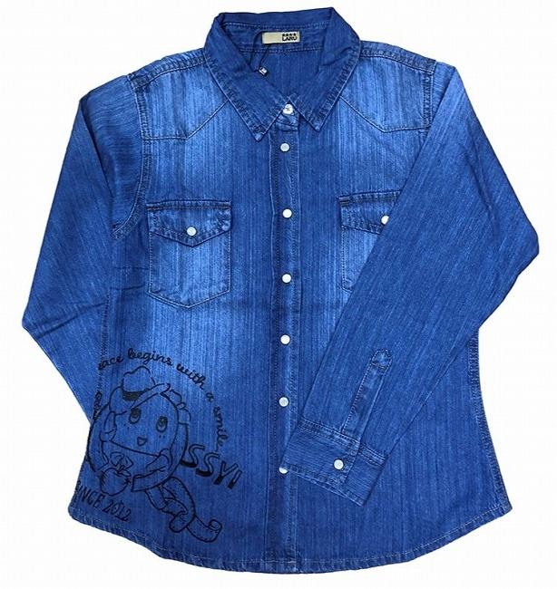 デニムシャツ ふなっしー ブルー1