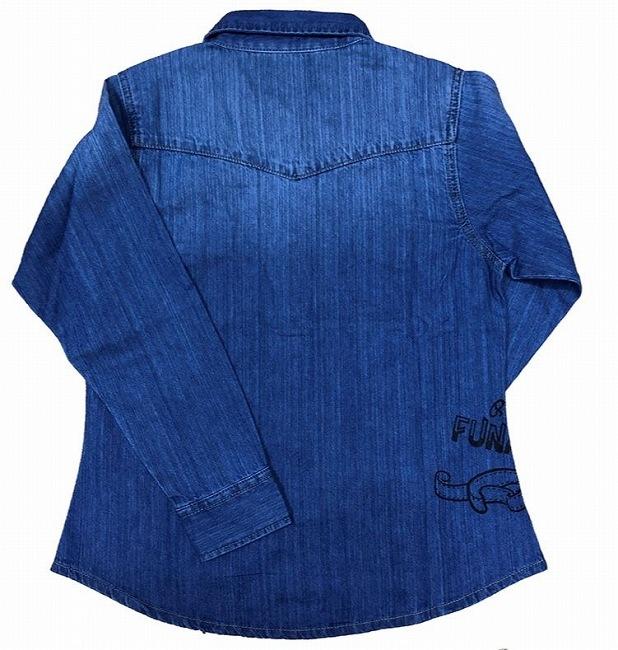 デニムシャツ ふなっしー ブルー2