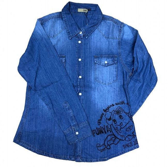 デニムシャツ ふにゃっしー ブルー1