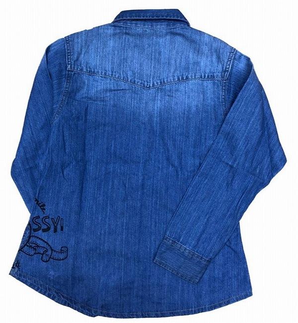 デニムシャツ ふにゃっしー ブルー2
