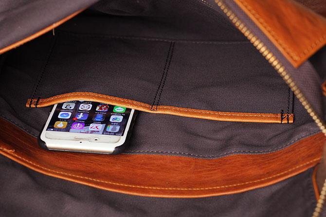 パンチング 馬革 ショルダーバッグ メンズ IRREGULAR 71670 内側スマホポケット
