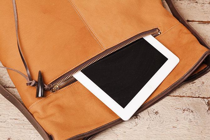 ショルダーバッグ メンズ 薄マチ縦型 ディアスキン風ソフト仕上げ 牛革ステア TIPI 71771 背面ポケット
