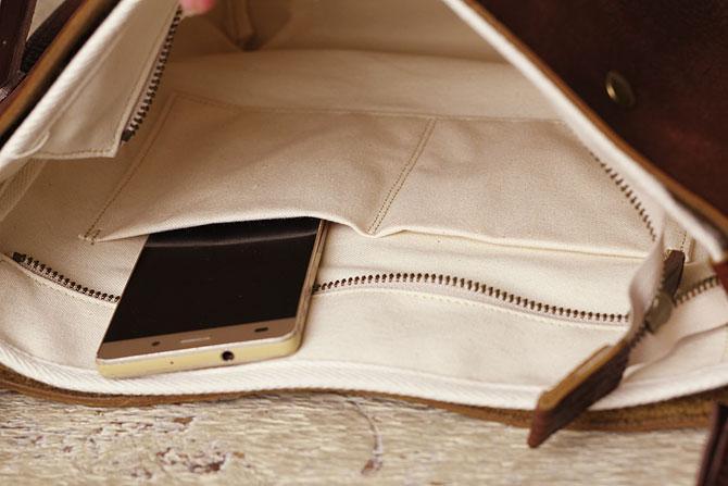 シュリンクレザー ショルダーバッグ メンズ タンデム SHOVEL 72170 内ポケット