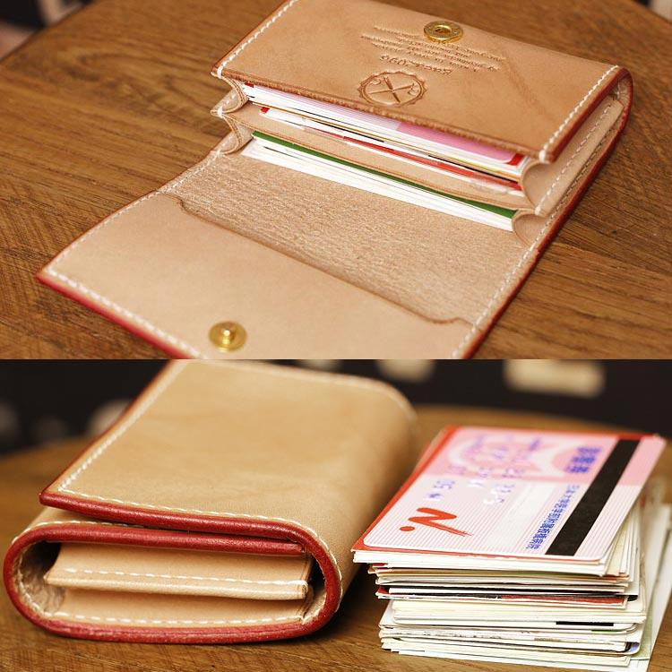 ヌメ革 カードケース メンズ 手縫い 栃木レザーボックス小銭入れ 収納
