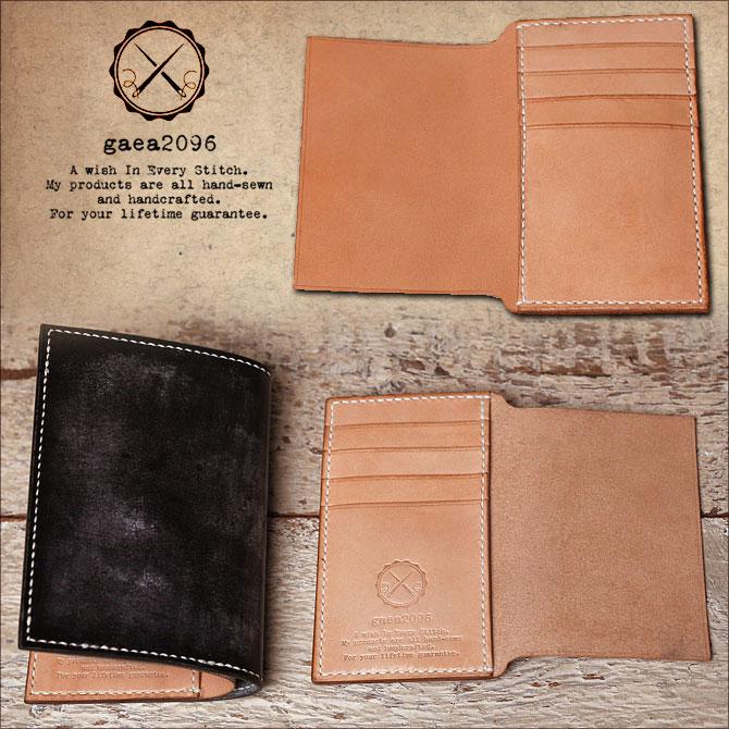 手縫い ヌメ革 二つ折り メンズ 財布 ミドルウォレット 栃木レザー イメージ画像1