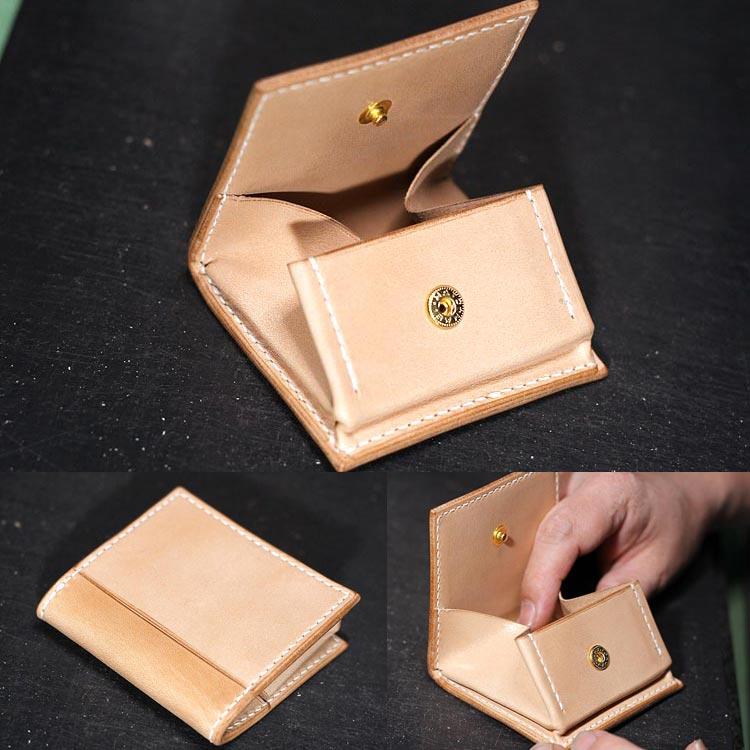 ヌメ革 コインケース メンズ 手縫い 栃木レザーボックス小銭入れ 収納