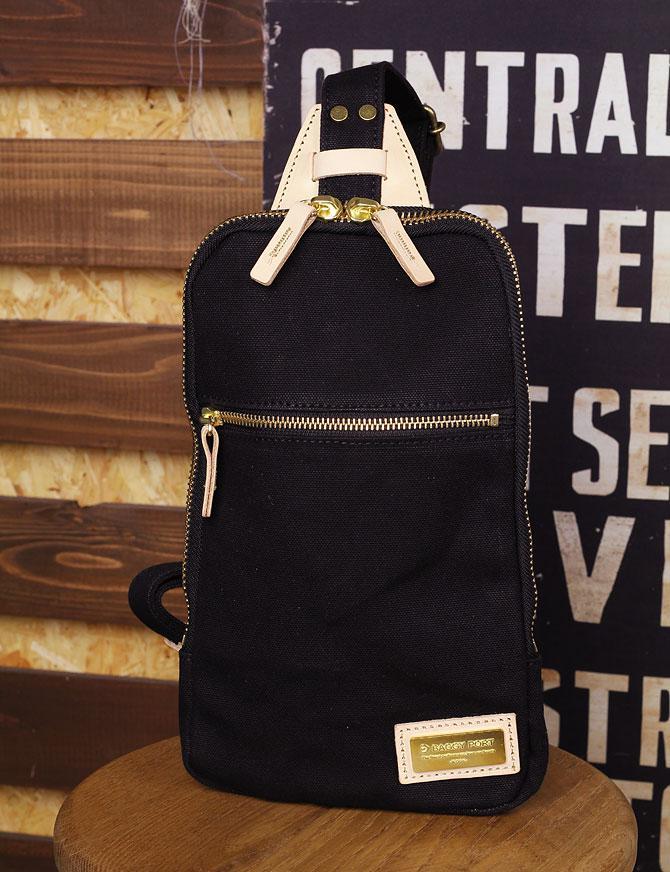 ブラック コーマ帆布 ボディバッグ メンズ 薄マチ grn 1006 ブラック
