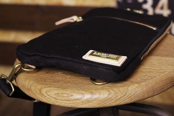 ブラック コーマ帆布 ボディバッグ メンズ 薄マチ grn 1006 薄マチ