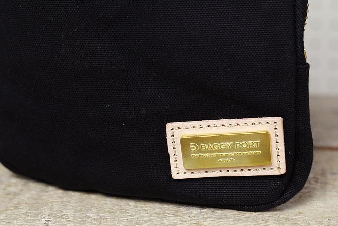 ブラック コーマ帆布 ボディバッグ メンズ 薄マチ grn 1006 真鍮ロゴ