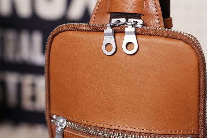 本革 ボディバッグ メンズ ダブルオイルレザー 薄マチ grn 117 キャメル素材感