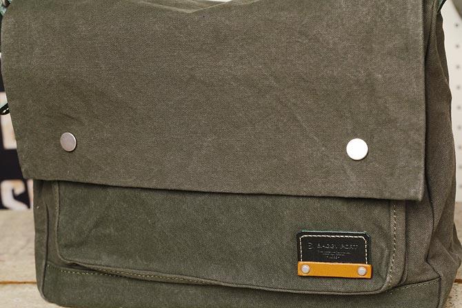 ハンプのショルダーバッグ メンズ バギーポート grn 1506 素材アップ