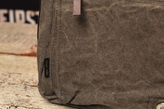 かぶせショルダーバッグ 備長炭染めハンプ バギーポート kon 2061 ロゴ