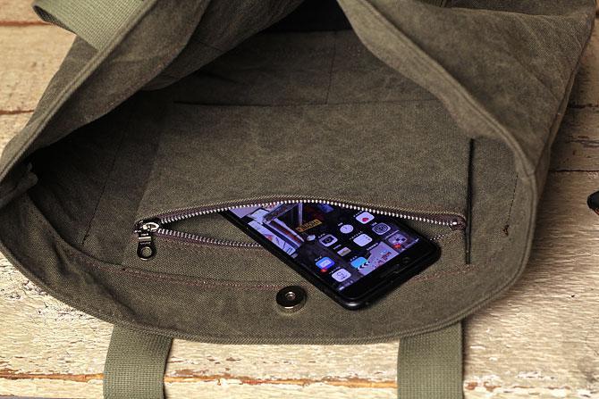 帆布トートバッグ メンズ  kon 2062 内側ポケット