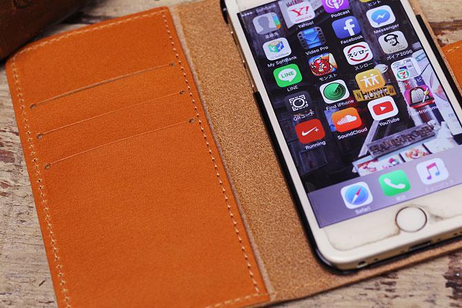 iPhone 6/6S ケース 栃木レザー ヌメ革 L-20330 ジーンズ イメージ画像2