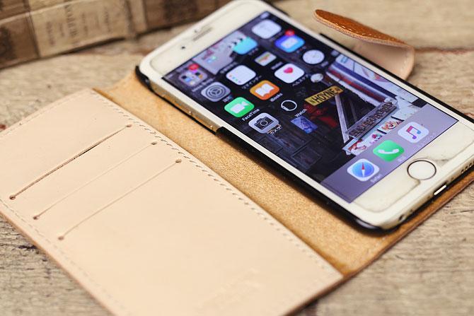 iPhone 6/6S ケース 姫路 ワイルドシュリンクレザー ヌメ革 L-20362 イメージ画像2
