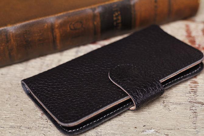 iPhone 6/6S ケース 姫路 ワイルドシュリンクレザー ヌメ革 L-20362 ブラック