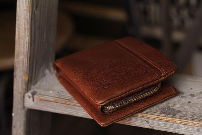 二つ折り財布 メンズ ミネルバボックス 本革 バギーポート lzys 8001 イメージ画像2