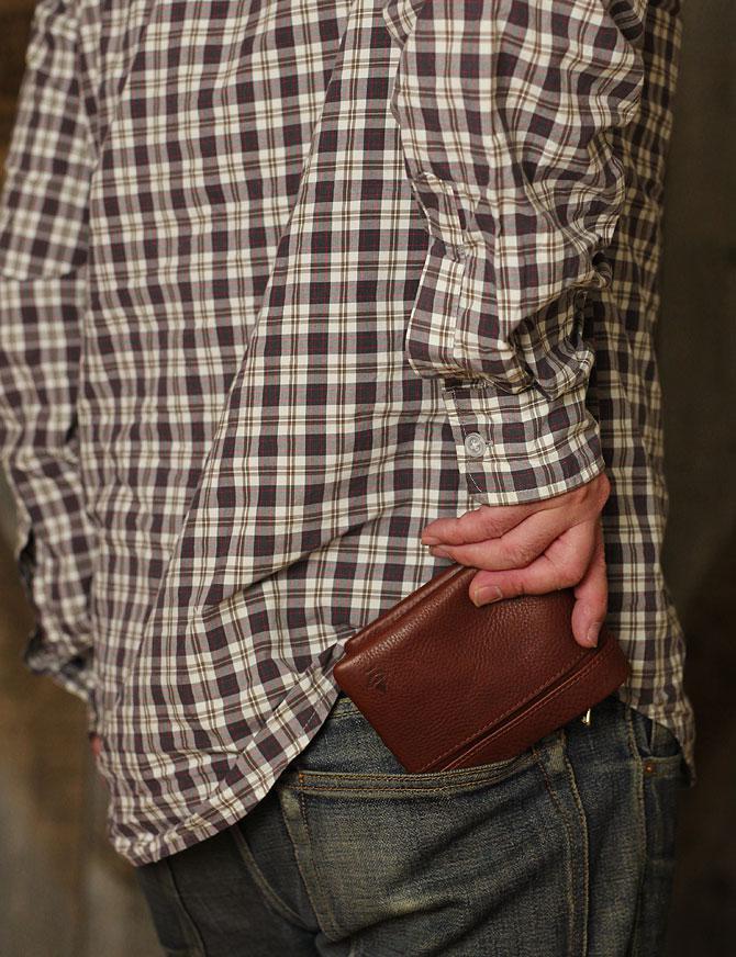 二つ折り財布 メンズ ミネルバボックス 本革 バギーポート lzys 8001 モデルイメージ1