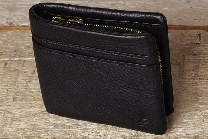 二つ折り財布 メンズ ミネルバボックス 本革 バギーポート lzys 8001 ブラック
