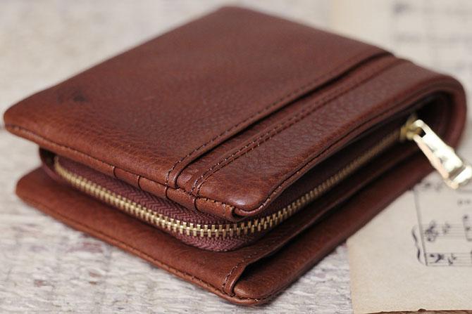二つ折り財布 メンズ ミネルバボックス 本革 バギーポート lzys 8001 ブラウン
