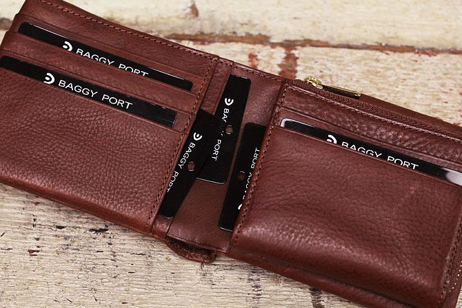 二つ折り財布 メンズ ミネルバボックス 本革 バギーポート lzys 8001 カード入れ