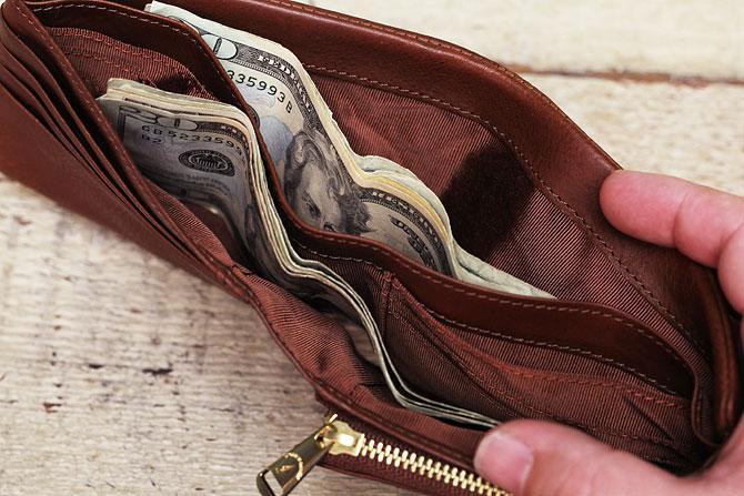二つ折り財布 メンズ ミネルバボックス 本革 バギーポート lzys 8001 札入れ