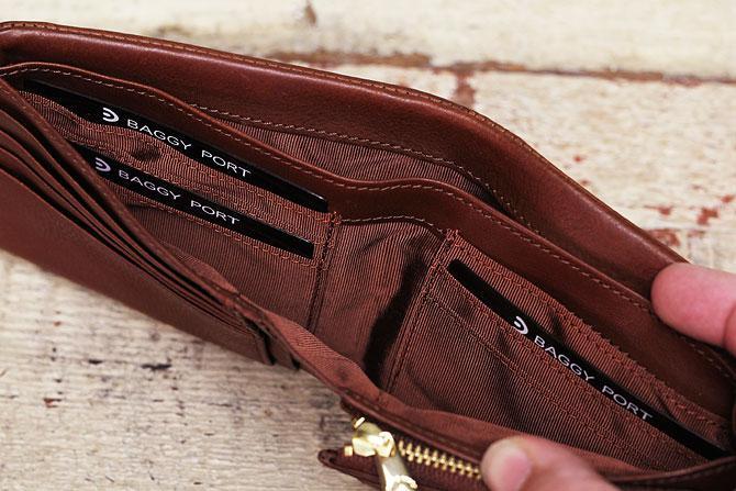 二つ折り財布 メンズ ミネルバボックス 本革 バギーポート lzys 8001 札入れ内カード入れ