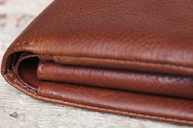 二つ折り財布 メンズ ミネルバボックス 本革 バギーポート lzys 8001 折り畳み部分