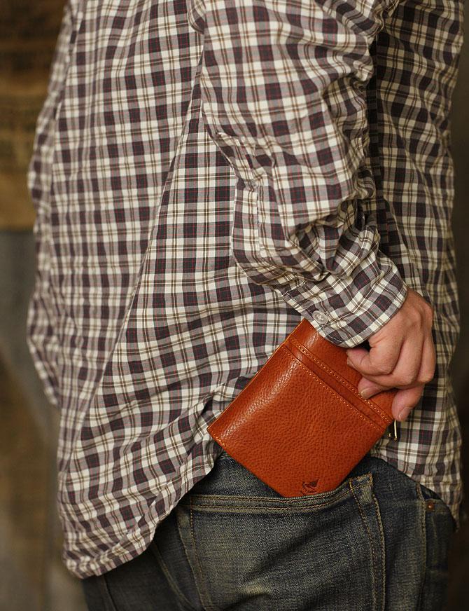 ハーフ折り財布 メンズ ミネルバボックス 本革 バギーポート lzys 8002 モデルイメージ1