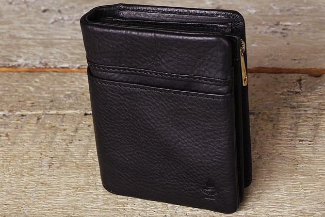 ハーフ折り財布 メンズ ミネルバボックス 本革 バギーポート lzys 8002 ブラック