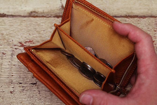 ハーフ折り財布 メンズ ミネルバボックス 本革 バギーポート lzys 8002 小銭入れ