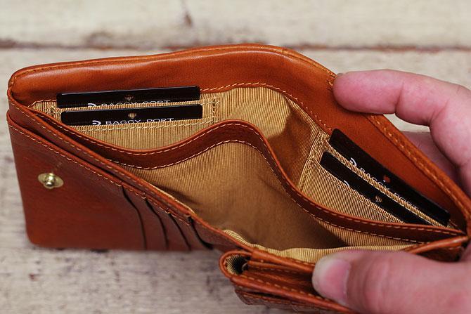 ハーフ折り財布 メンズ ミネルバボックス 本革 バギーポート lzys 8002 札入れ内カード入れ