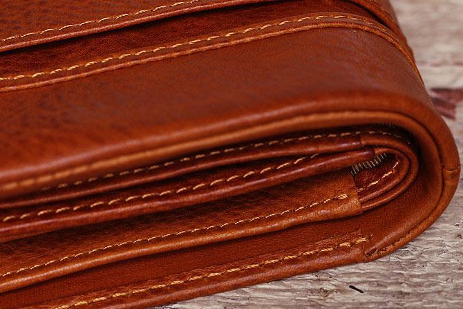 ハーフ折り財布 メンズ ミネルバボックス 本革 バギーポート lzys 8002 折り畳み部分