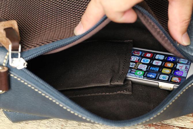 オイルレザー ボディバッグ メンズ Pray prbb003 A5 内ポケット