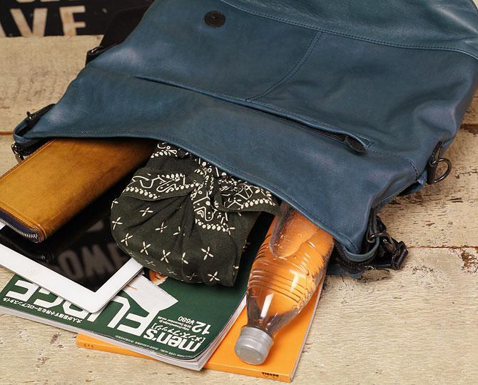 馬革 2way ショルダーバッグ メンズ オイルホースレザー Pray プレイ prshd301 A4 本体収納