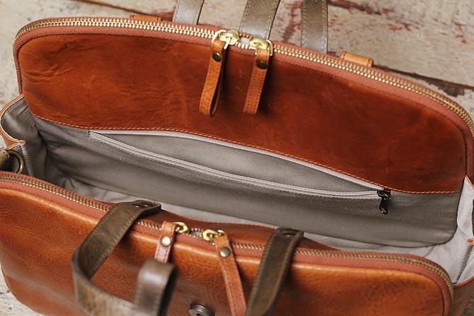 イタリアンレザー リュックサック & ショルダーバッグ メンズ 3WAY シーガルシップ skim 3001 ポケット2