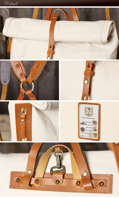 ドゥーマンフレイバー 帆布×栃木レザー  リュックサック シーガルシップ smic 003 ディテール