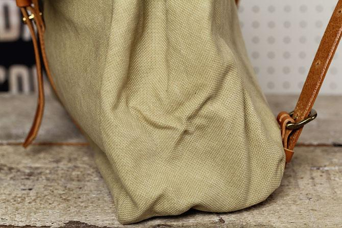 リュックサック メンズ 帆布×栃木レザー ヌメ革 シーガルシップ smic 083 底マチ
