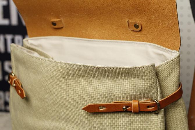 リュックサック メンズ 帆布×栃木レザー ヌメ革 シーガルシップ smic 083 間口幅調節可能