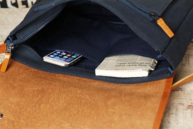 メンズ リュックサック 6号帆布×オイルバケッタ革 バギーポート tepp 461 A4 内ポケット
