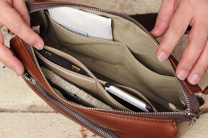 グローブレザー ウエストバッグ メンズ 2way ynm 207 5個もの内ポケット