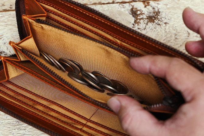 ラウンド財布 メンズ ミネルバボックス バギーポート zys 1300 小銭入れ