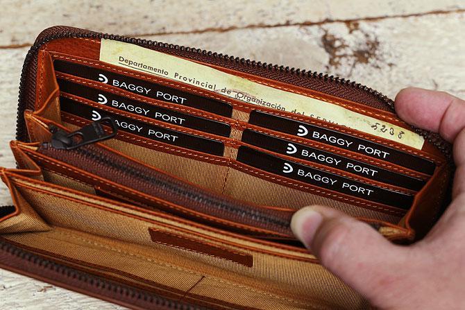 ラウンド財布 メンズ ミネルバボックス バギーポート zys 1300 カード入れ